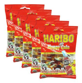Bộ 5 gói kẹo dẻo Haribo Happy Cola 80g