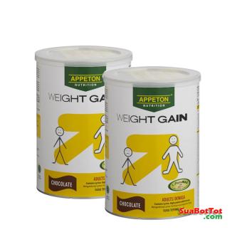 Bộ 2 hộp Sữa Appeton Weight Gain Adults vị sô cô la 900g (Cho ngườ lớn)