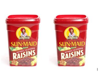 Bộ 2 Hộp Nho Khô Không hạt Sun Maid Raisins 500g