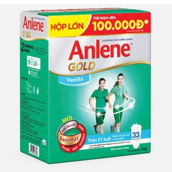 Sữa bột Anlene Gold Bonemax Vanilla 1kg (Dạng hộp)