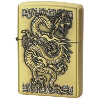Bật lửa xăng đá hình rồng 3 (Vàng đồng)