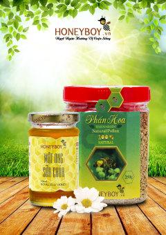 Bộ Phấn hoa thiên nhiên 250g và Mật ong sữa chúa 100ml