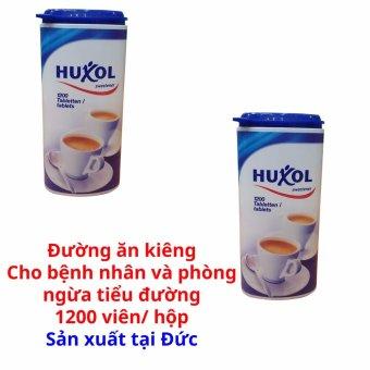 Bộ 2 hộp đường ăn kiêng Huxol dành cho người bệnh tiểu đường 1200 viên