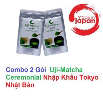 Bộ 2 gói Bột trà xanh Uji Matcha Ceremonial (2 Gói)