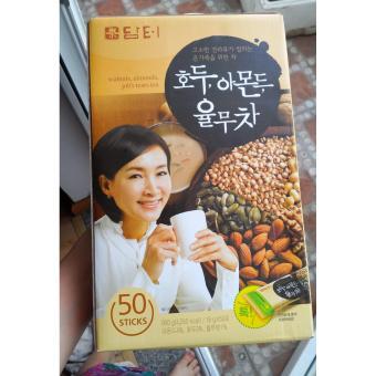 Bộ 2 hộp Bột ngũ cốc dinh dưỡng hạt óc chó hạnh nhân Hàn Quốc Damtuh (18g x50 gói)