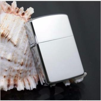Bật lửa kiểu dáng zippo kèm hộp đựng sang trọng F503 (trắng bạc)