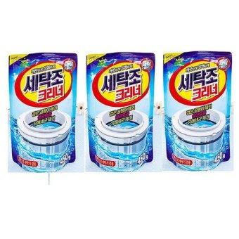 Bộ 3 gói bột vệ sinh lồng máy giặt Hàn Quốc Sandokkaebi 450g