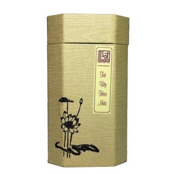 Trà ướp hoa nhài hộp bát giác vàng Bạch Hạc Trà 100g