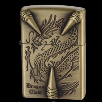 Bật lửa xăng Dragon Clam (Vàng đồng)