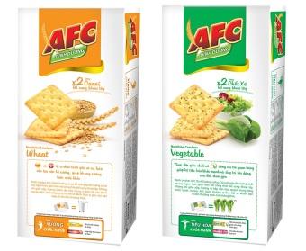 Bánh Kinh Đô AFC Dinh Dưỡng Vị Rau Cải Và Vị Lúa Mì 200g * 2 Hộp