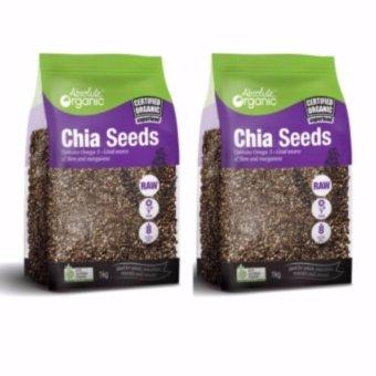 Bộ 2 Hạt Chia Úc Seeds High In Omega 3 Absolute Organic 1kg - Mẫu Mới