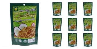 Bộ 10 gói Dừa sấy giòn Quê hương vị sầu riêng. 28G