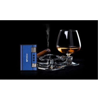 Hộp đựng thuốc lá kiêm bật lửa khò WINDRUNNER F645 (Bạc) + Bình bơm gas Bật lửa 80g