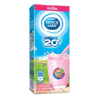 Thùng 48 hộp sữa tươi tiệt trùng Dutch Lady vị dâu 180ml