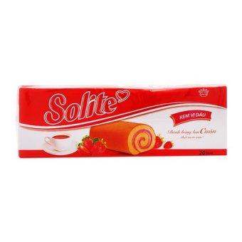 Bánh bông lan cuốn vị dâu Solite hộp 360g
