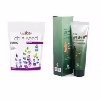 Bộ Hạt chia Nutifood Nutiva Organic Chia Seed 907g và Dầu Lạnh Xoa Bóp Khop Glucosamin 150ml