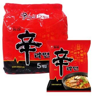 Lốc 5 gói mì Hàn Quốc Shin