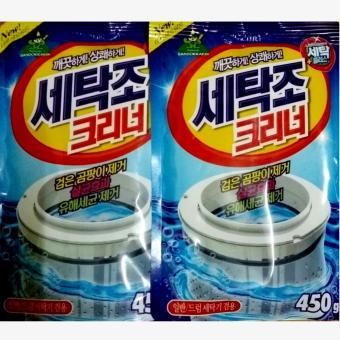 Bộ 2 gói Bột làm sạch lồng máy giặt Korea 450g TI062