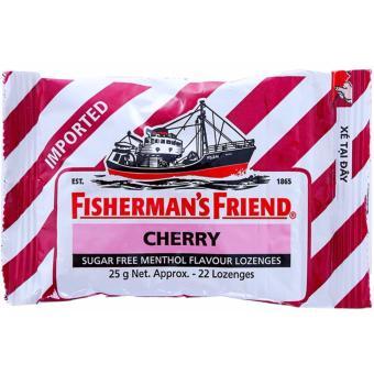 Kẹo cay con tàu không đường vị Cherry & Menthol gói 25g