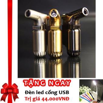 Bật lửa khò hợp kim Cigar Torch F70 (Đen) + Tặng đèn LED cổng USB