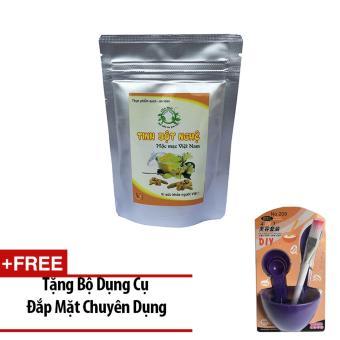 Tinh Bột Nghệ Mộc Mạc Việt Nam 100g+ Tặng Bộ Dụng Cụ Đắp Mặt Nạ