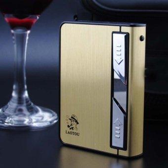 Hộp đựng thuốc lá kèm bật bửa hồng ngoại kèm cáp sạc LAOTOU C636 (Vàng)