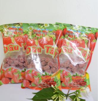 Bộ 3 gói kẹo dâu tây Đà Lạt 200g