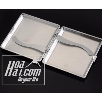 Hôp đựng thuốc lá da bộc kim loại HOAHAI.COM (Đen)