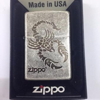 Bật lửa Zippo bạc chính hãng khắc hình bọ cạp