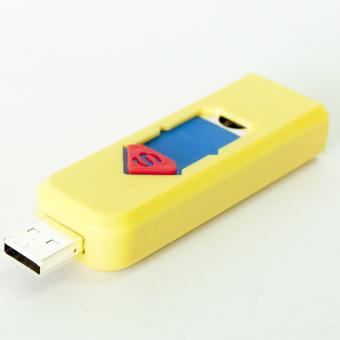 Bật lửa không dùng gas sạc cổng USB F564 (Đỏ) + Tặng bút cảm ứng kiêm bút ký cho smartphone và tablet (Bạc)