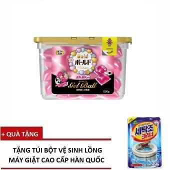 Viên Giặt 4 Trong 1 Gel Ball Hồng - P&G Nhật Bản Sản Xuất + Tặng Bột Tẩy Cặn Bẩn Lồng Giặt Hàn Quốc