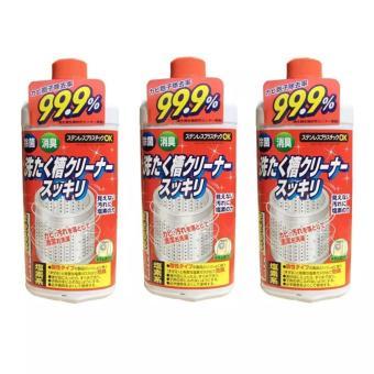 Bộ 03 chai Nước tẩy lồng máy giặt hàng Nhật Rocket 99,9% (550ml)