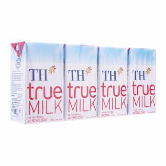 Bộ 6 Lốc 4 Hộp Tươi Tiệt Trùng Sữa TH True Milk Hương Dâu 110ML