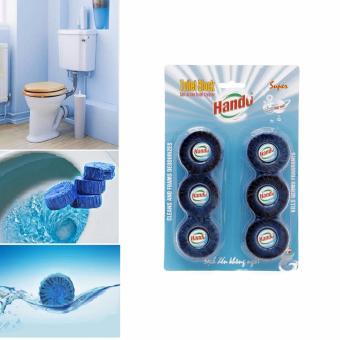 Vỉ 6 viên tẩy Hando vệ sinh và khử mùi hôi Toilet 330Gr