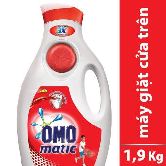 Nước giặt Omo Matic cửa trên 1.9kg