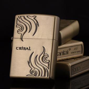 Bật lửa xăng Cribal Tatoo (Vàng đồng)
