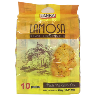 Bánh cracker mè Lamosa 400g