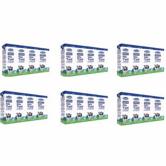 Bộ 6 Lốc Sữa tươi tiệt trùng Vinamilk 100% Ít Đường 4 Hộp x 180ml