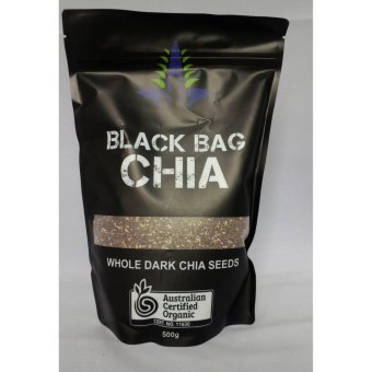 Chia Organic Úc Black bag High In Omega 3 Absolute Organic 0.5Kg
