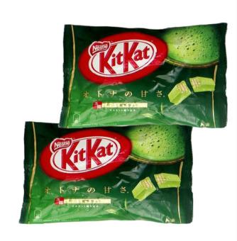 Bộ 2 bịch bánh chocolate Kitkat trà xanh 12 thanh