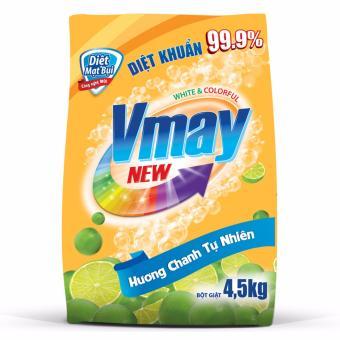 Bột giặt Vmay hương chanh 4.5kg