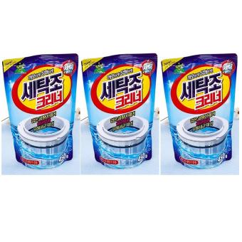 Bộ 3 Túi bột tẩy vệ sinh lồng máy giặt - Sản xuất tại Hàn Quốc 450g