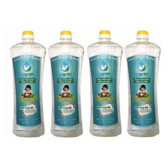Bộ 4 Chai nước rửa rau củ quả Sagren