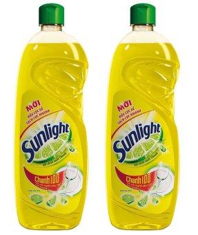 Bộ 2 chai nước rửa chén Sunlight chanh 750g