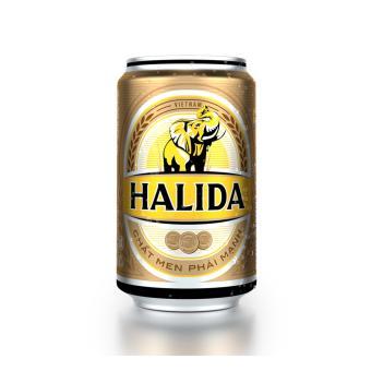Thùng 24 Lon Bia Halida 330ml