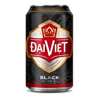Bia đen Đại Việt Super - thùng 24 lon x 330 ml + Tặng bộ 2 cốc uống bia cao cấp