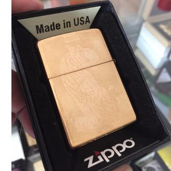Bật Lửa Zippo Hình Chú Hổ Vàng