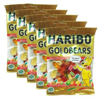 Bộ 5 gói kẹo dẻo Haribo Goldbears 80g