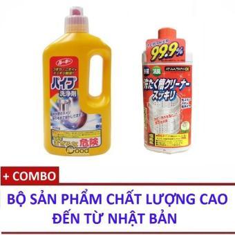 Bộ Dung Dịch Thông Tắc Đường Ống Thoát Nước Siêu Mạnh 800G + Chai Dung Dịch Tẩy Cặn Bẩn Lồng Máy Giặt