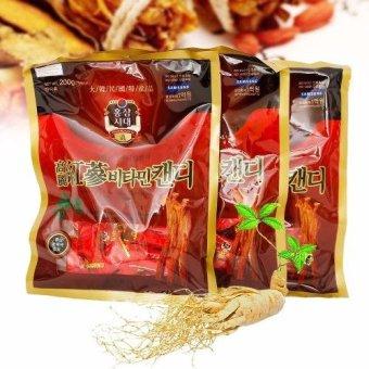 Bộ 3 gói Kẹo hồng sâm Vitamin 200g